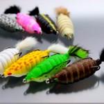 「バグフロッグ」発売開始! 村上さんの新作ルアー、これは虫パターンでも使えそう。