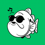 「オオクチくん」ってLINEスタンプが、普段使いできちゃう。いちおう釣り系だけど。